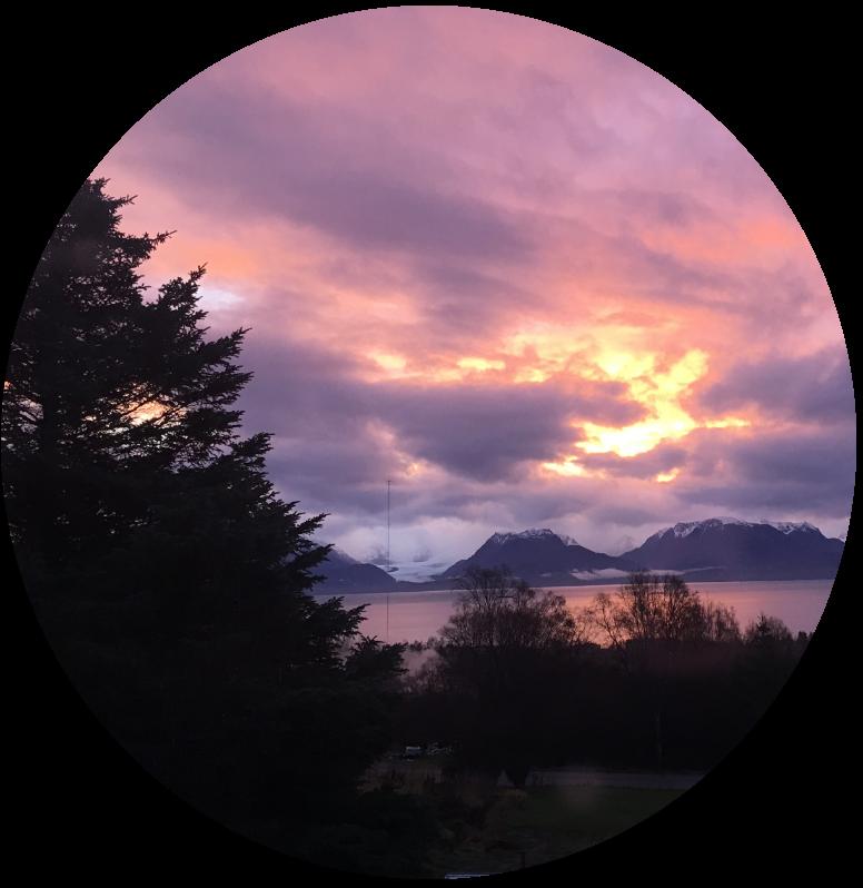 Sunset over Kachemak Bay